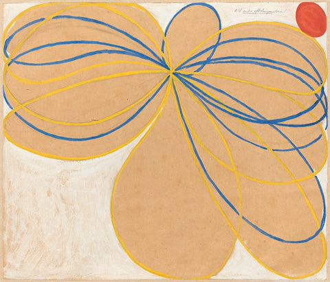 Hilma af Klint painting, Group V, The Seven Pointed Star, No1, 1909