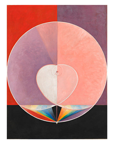 Hilma af Klint painting, The Dove No. 2 from Group 1X Series SUW/UW, 1914-1915