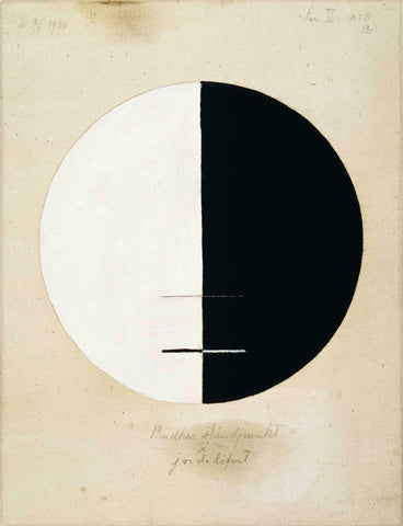 Hilma af Klint painting, Buddha's Standpoint in the Earthly Life, No. 3a.  1920