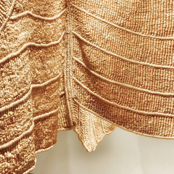 Macrame Weaving by Aurélia Muñoz, Beige Eagle, 1977