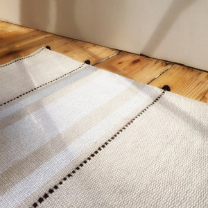 Photo of M+A NYC Handloomed Ribbon Stripe Cotton Floor Runner