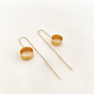 M+A NYC Thread Earring Vermeil