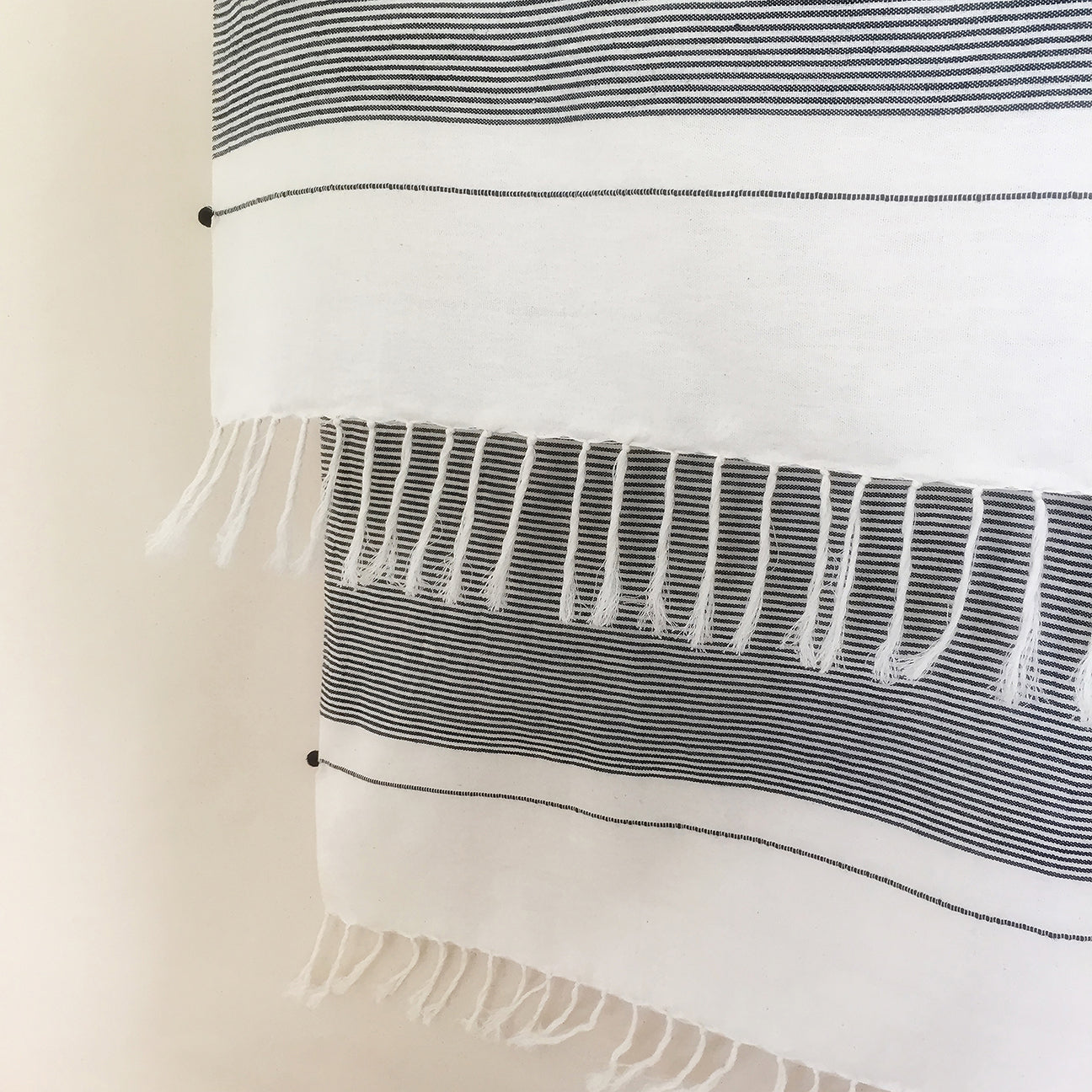 M+A NYC Beach Towel - Railroad Stripes - Detail
