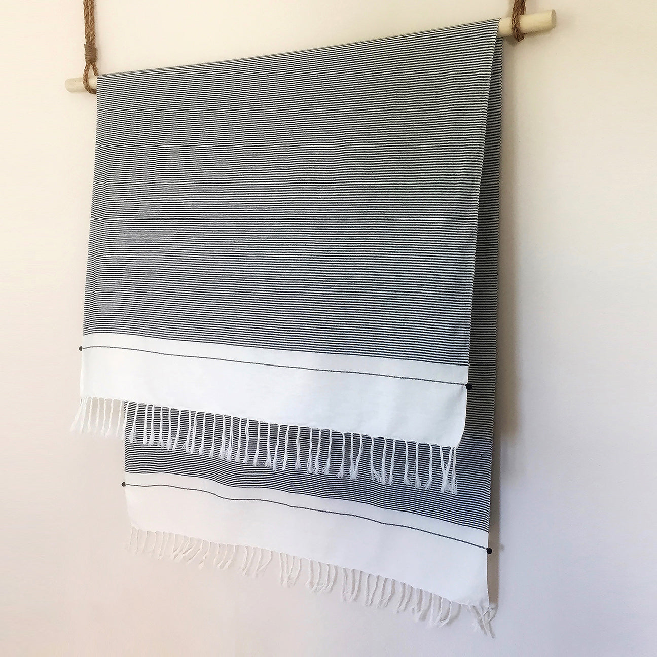 M+A NYC Beach Towel - Railroad Stripes