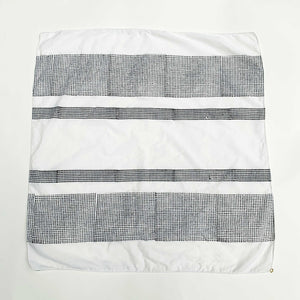 "M+A NYC Block Print Scarf Horizontal Bands 25"" Square"