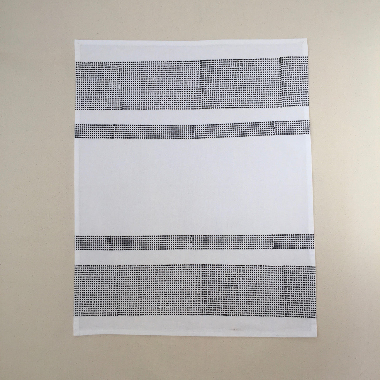 M+A NYC Block Print Tea Towel Horizontal Bands
