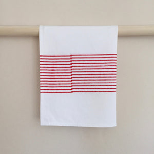 M+A NYC Block Print Tea Towel Offset Stripe