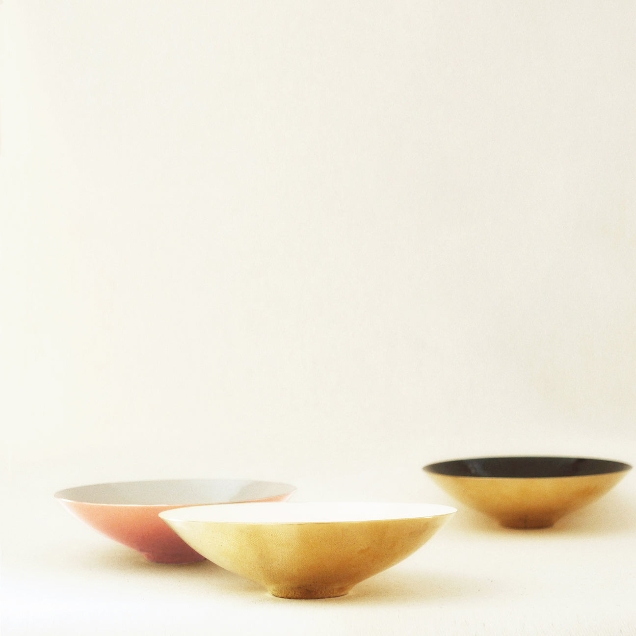 M+A NYC Enamel and Brass Plated Bowl - All colors