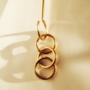 M+A NYC Extension Hook with Rings - Brass - Detail