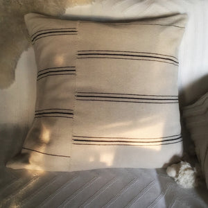 "M+A NYC Hand Loomed Cotton Offset Stripe 26"" Pillow"