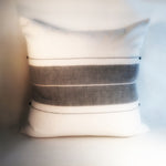 "M+A NYC Handloomed Center Stripe 24"" Square Pillow"