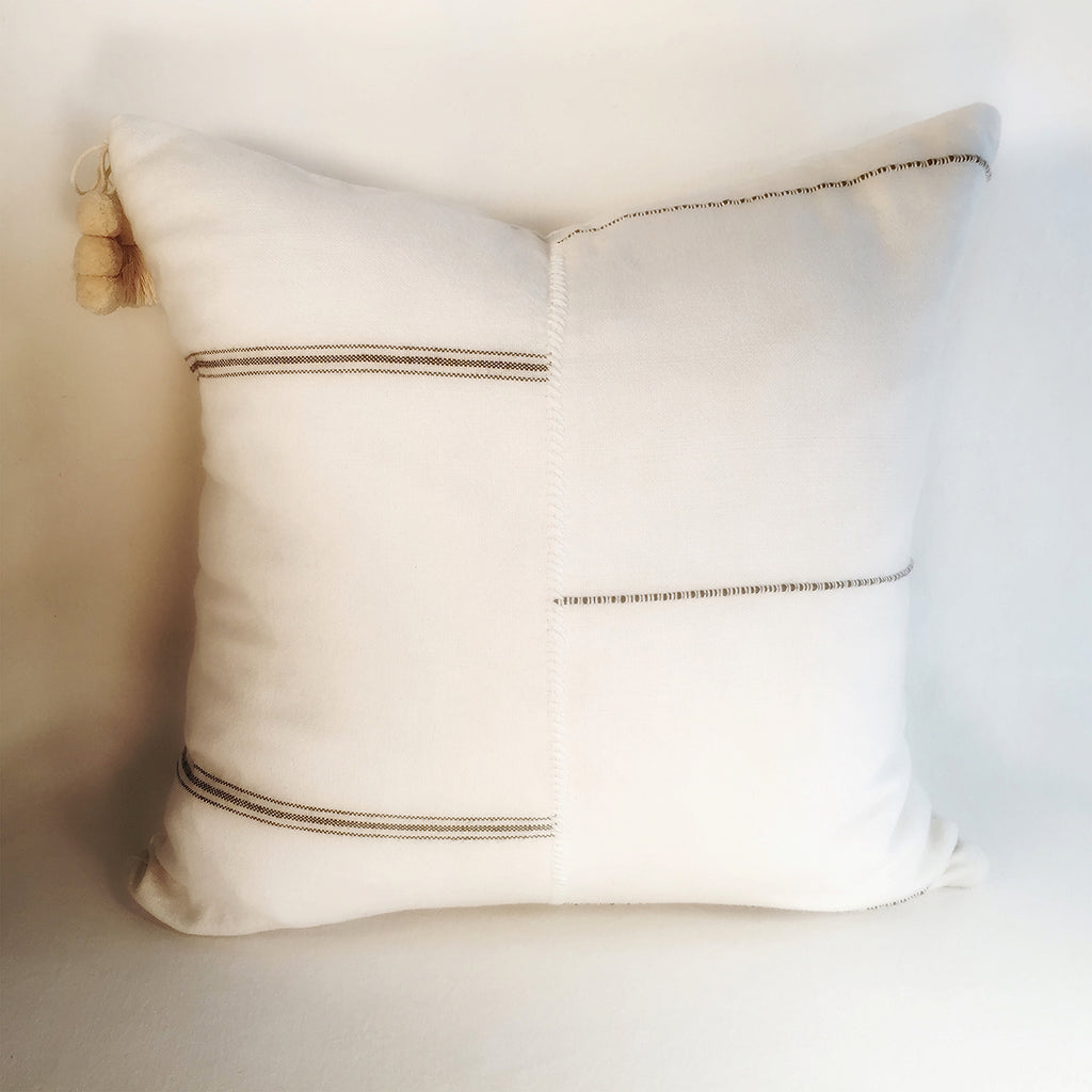 "M+A NYC Handloomed Offset Stripe 18"" Pillow"