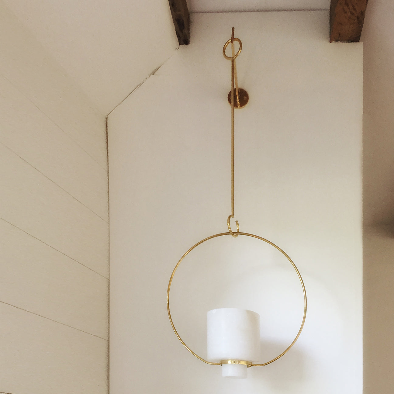 M+A NYC Hanging Planter with Hook - Small - Alabaster