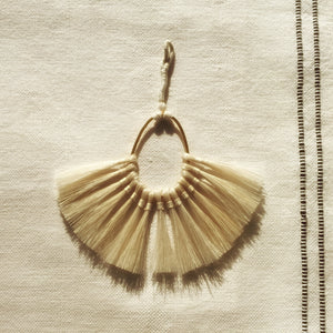 M+A NYC Horse Hair Fan Tassel - Blonde