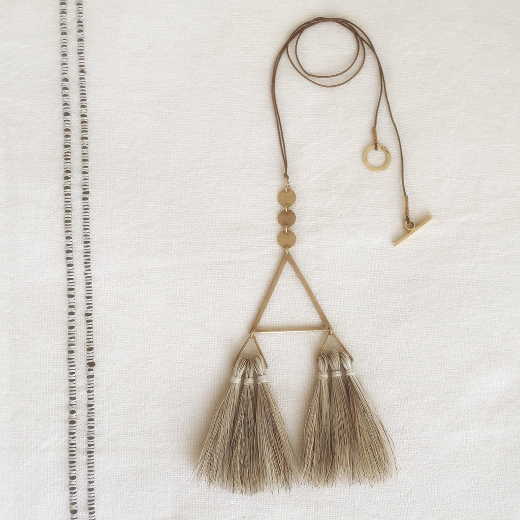 M+A NYC Horse Hair Geometry Necklace