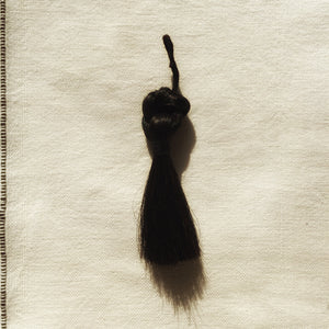 M+A NYC Horse Hair Knot Tassel Black