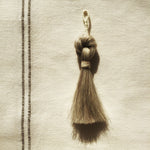 M+A NYC Horse Hair Knot Tassel - Grey
