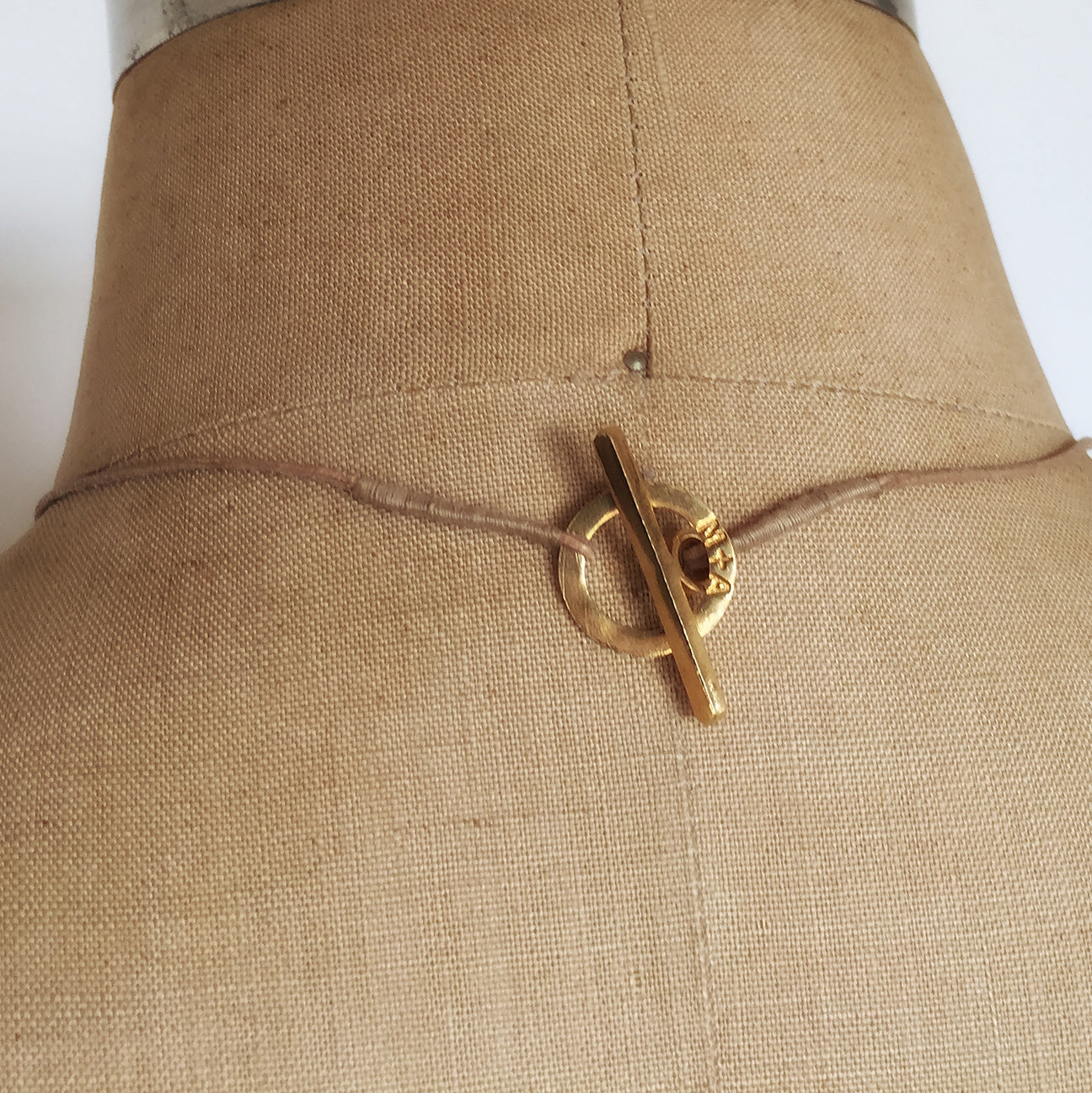 M+A NYC Horse Hair Geometry Necklace - Clasp Detail