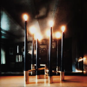 Modular Brass Swing Arm Candelabra