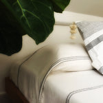 M+A NYC Offset Stripe Coverlet - Queen