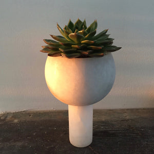 M+A NYC Orb Planter Medium - Alabaster