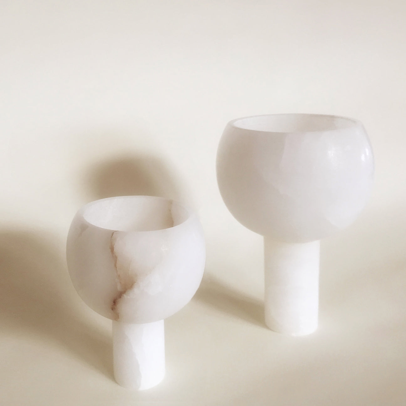 M+A NYC Orb Planter Small and Medium - Alabaster