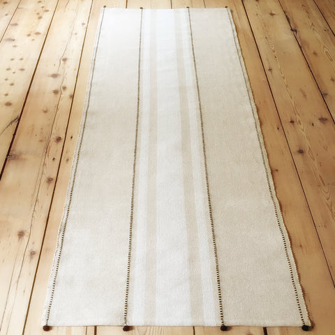 "Cotton Floor Runner in Ribbon Stripe 2.5"" x 7"" - M + A NYC"