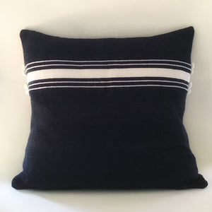 M+A NYC Ribbon Stripe Hand Loom Floor Pillow