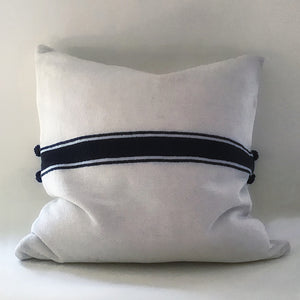 "M+A NYC Ribbon Stripe Hand Loomed 24"" Pillow"