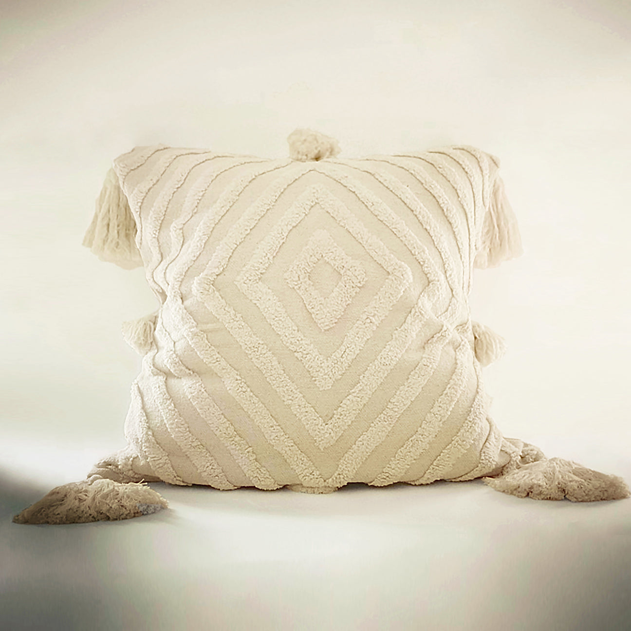 "M+A NYC Stella Handloomed and Tufted Cotton 26"" Pillow"