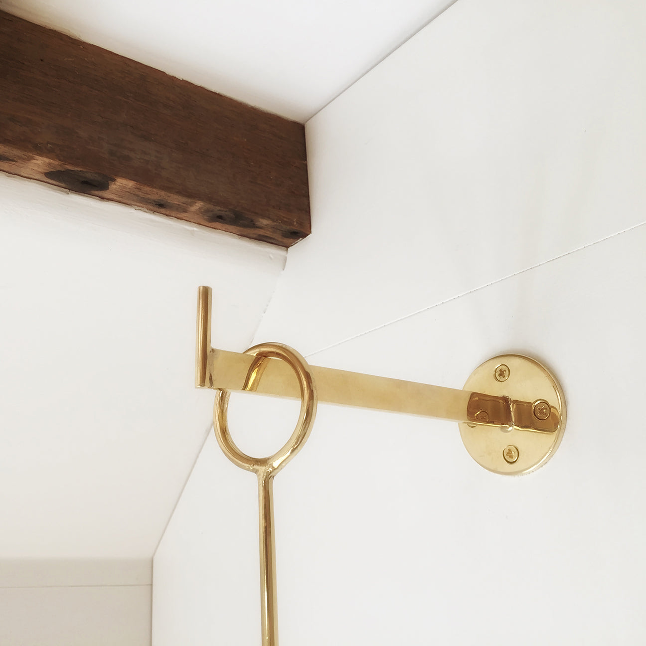 M+A NYC Wall Mounting Hook Polished Brass
