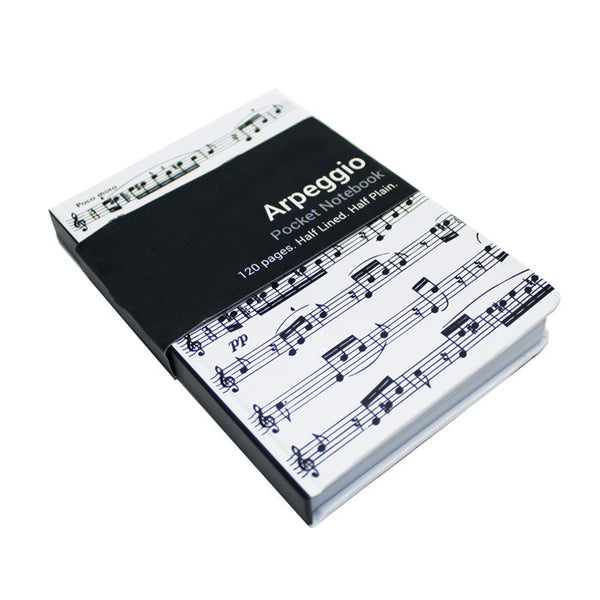 A6 Pocket Notebook Arpeggio White