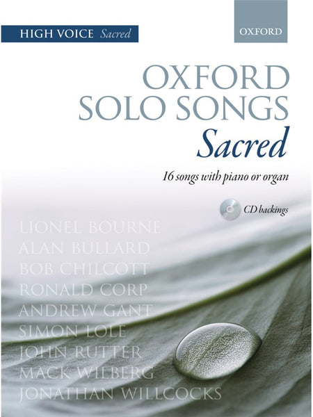 Oxford Solo Songs Sacred Vocal score High Voice