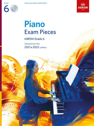 ABRSM PIANO EXAM PIECES 2021-2022 GRADE 6 Book and CD