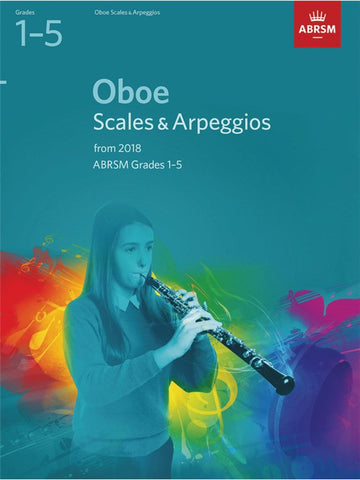 ABRSM Oboe Sight & Arpeggios Grades 1–5 from 2018
