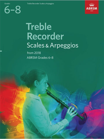 ABRSM Treble Recorder Scales & Arpeggios Grades 6–8 from 2018