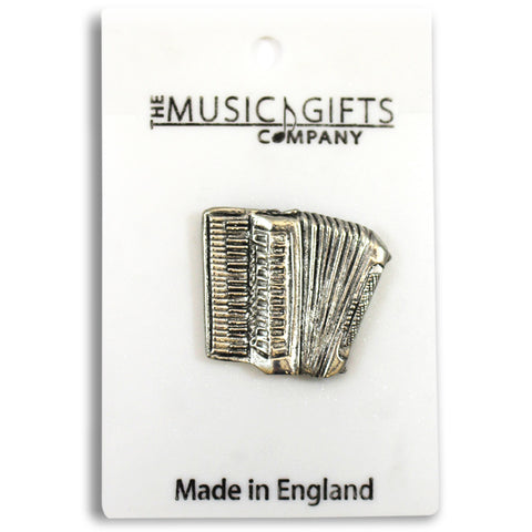 Pewter Accordion Pin Badge
