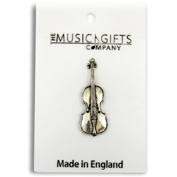Pewter Cello Pin Badge