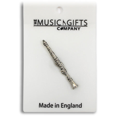 Pewter Clarinet Pin Badge