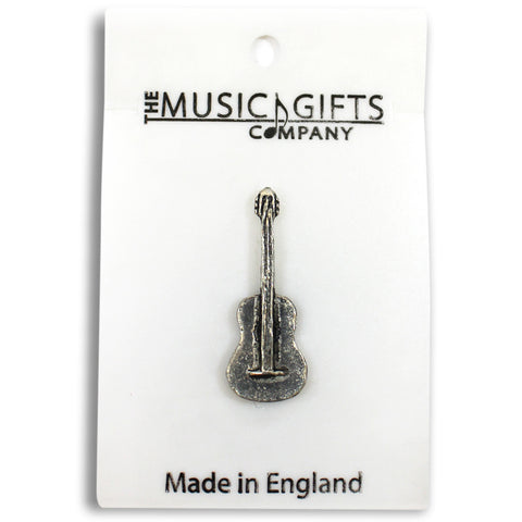 Pewter Classical Guitar Pin Badge