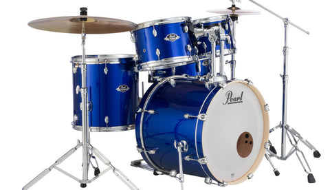 Pearl EXX725SBR Export Drum Kit High Voltage Blue With Cymbals