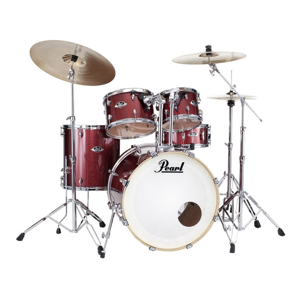 Pearl EXX725S  Export Drum Kit Black Cherry Gillter With Cymbals