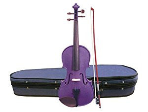 Stentor Harlequin Violin Outfit 1/2 Size Purple