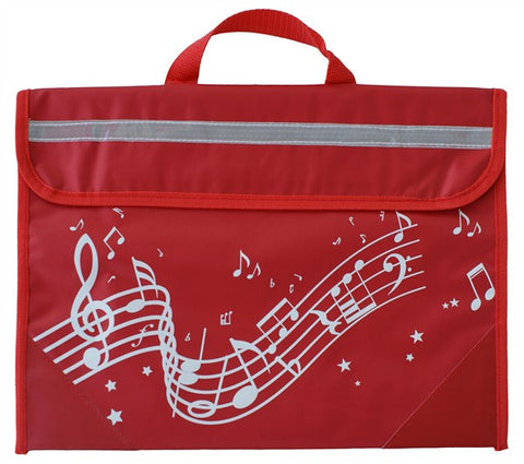 Musicwear Wavy Stave Music Bag Red