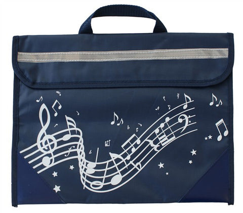 Musicwear Wavy Stave Music Bag Navy Blue