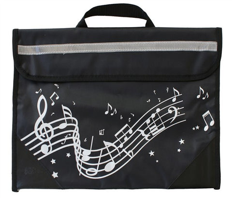 Musicwear Wavy Stave Music Bag Black