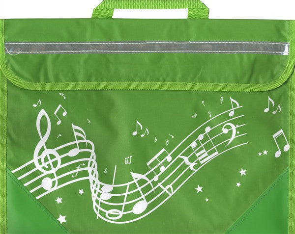 Musicwear Wavy Stave Music Bag Green