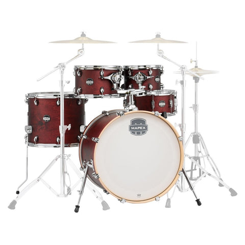 Mapex Mars Limited Edition 22'' 5pc Shell Pack, Transparent Cherry