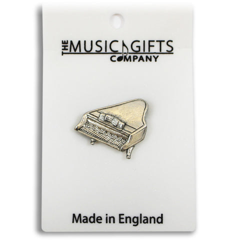 Pewter Piano Pin Badge
