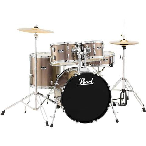 Pearl Roadshow 5 Piece American Fusion Drum Kit Bronze Metallic